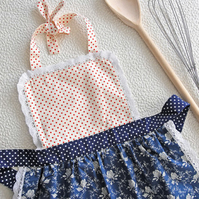 Baby Apron 0-2 years, Childrens Aprons, Girls Aprons Set, Toddler Pinny