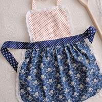 Kids Apron 5-7 years, Childrens Aprons, Girls Aprons Set, Toddler Pinny