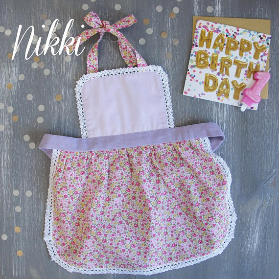 Baby Apron 0-2 years, Toddler Aprons, Lilac Childrens Apron, Childs Apron