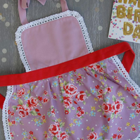 Baby Apron 0-2 years, Toddler Aprons, Floral Childrens Apron, Girls Apron