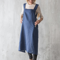 Pinafore Apron, Linen Pinafore, Linen Apron, Apron for Women, Apron with Pockets