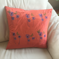 Bright vibrant cushion cover