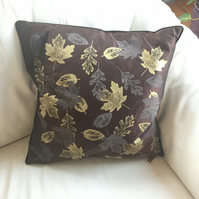 Autumnal leaf cushion cover