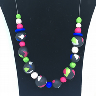 Bright splodge necklace