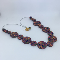 Retro disc necklace
