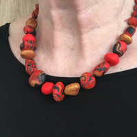 Bold oriental inspired necklace