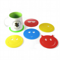 Smiley Emoji Coaster Gift Set