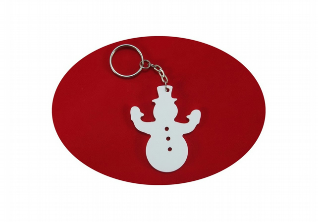 Snowman Bag Charm and Key Ring