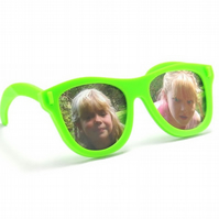 Spectacles Photo Frame - Green