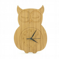 Owl Clock - Natural
