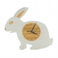 Rabbit Clock - Silver Grey