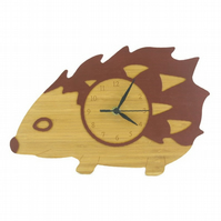 Hedgehog Clock - Chestnut Brown