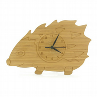 Hedgehog Clock - Natural