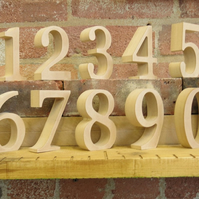 "20cm 8"" Table Numbers wooden free standing for DIY craft for weddings and events"