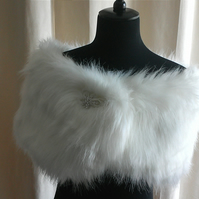 Super Luxurious Faux Fur Shawl, Wrap, Cover up