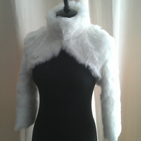 Luxurious Faux Fur Bolero (short jacket) with a Stand up Collar