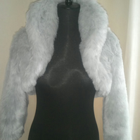 Luxurious Faux Fur Bolero (Short jacket) with Shawl Collar