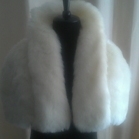 Luxury Faux Fur Clutch Capelet Cover up