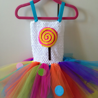 Rainbow lollipop tutu  1-3 years
