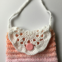 Crochet sunset handbag