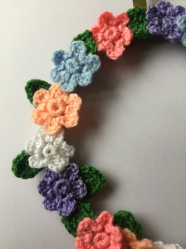 Handmade crochet floral hanging decoration