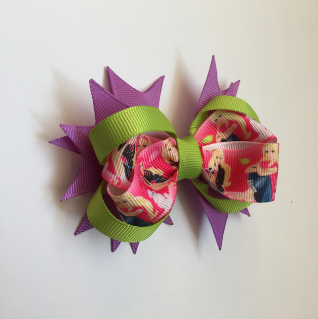 Barbie grosgrain ribbon hair bow