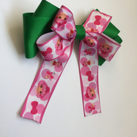 Lalaloopsy stacked hair bow green and pink