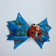 Sesame Street ribbon hair bow Elmo