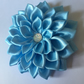 Light blue satin flower hair clip