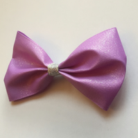 Sparkling lilac hair bow