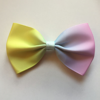 Pastel rainbow hair bow