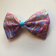Bright marble hair bow