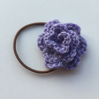 Lilac crochet rose hair band
