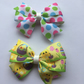 Easter hair bow set