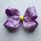 Lilac double layer nautical hair bow