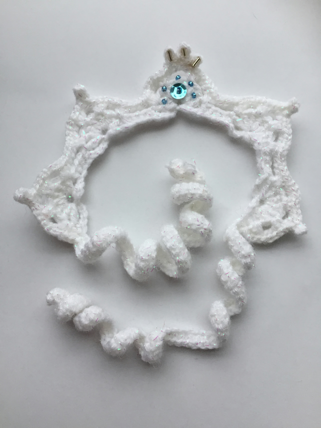 Snow queen crochet crown