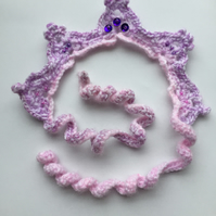 Purple haze crochet crown