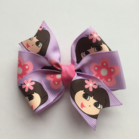 Dora the Explorer hair clip purple