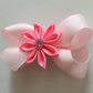 Pink Kansashi flower hair bow