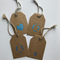 Baby boy blue gift tags
