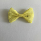 Small lace hair bow yellow