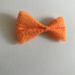 Medium lace hair bow orange