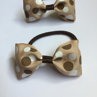Polka dot hair bow set