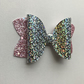 Pink and silver mermaid hair bow