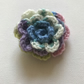Crochet flower hair clip in multicolour