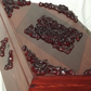 LOCKABLE - Handmade BEAUTIFUL Wooden Storage box with carved wood embellishments