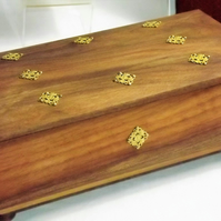 Deluxe Real Oak HARDWOOD Jewellery Box. Trinket keepsake Box. Wooden Storage Box