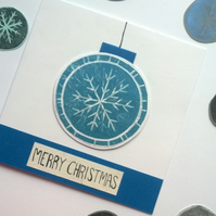 Snowflake Decoration card