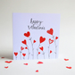 Valentines day card, Heats, Love card, greetings card