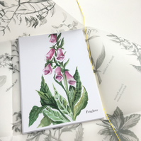 Pack of 5 Botanical watercolour  postcards